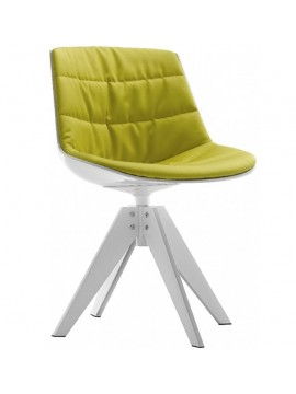 Chair padded Mdf Italia Flow chair - 4 gambe VN acciaio design Jean Marie Massaud