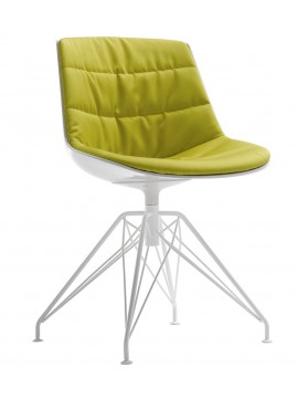Chair padded Mdf Italia Flow chair - 4 gambe LEM design Jean Marie Massaud