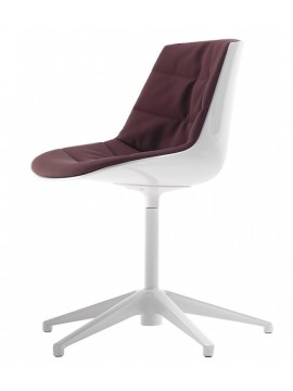 Chair padded Mdf Italia Flow chair - 5 razze fissa design Jean Marie Massaud