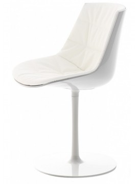 Chair padded Mdf Italia Flow chair - a stelo design Jean Marie Massaud