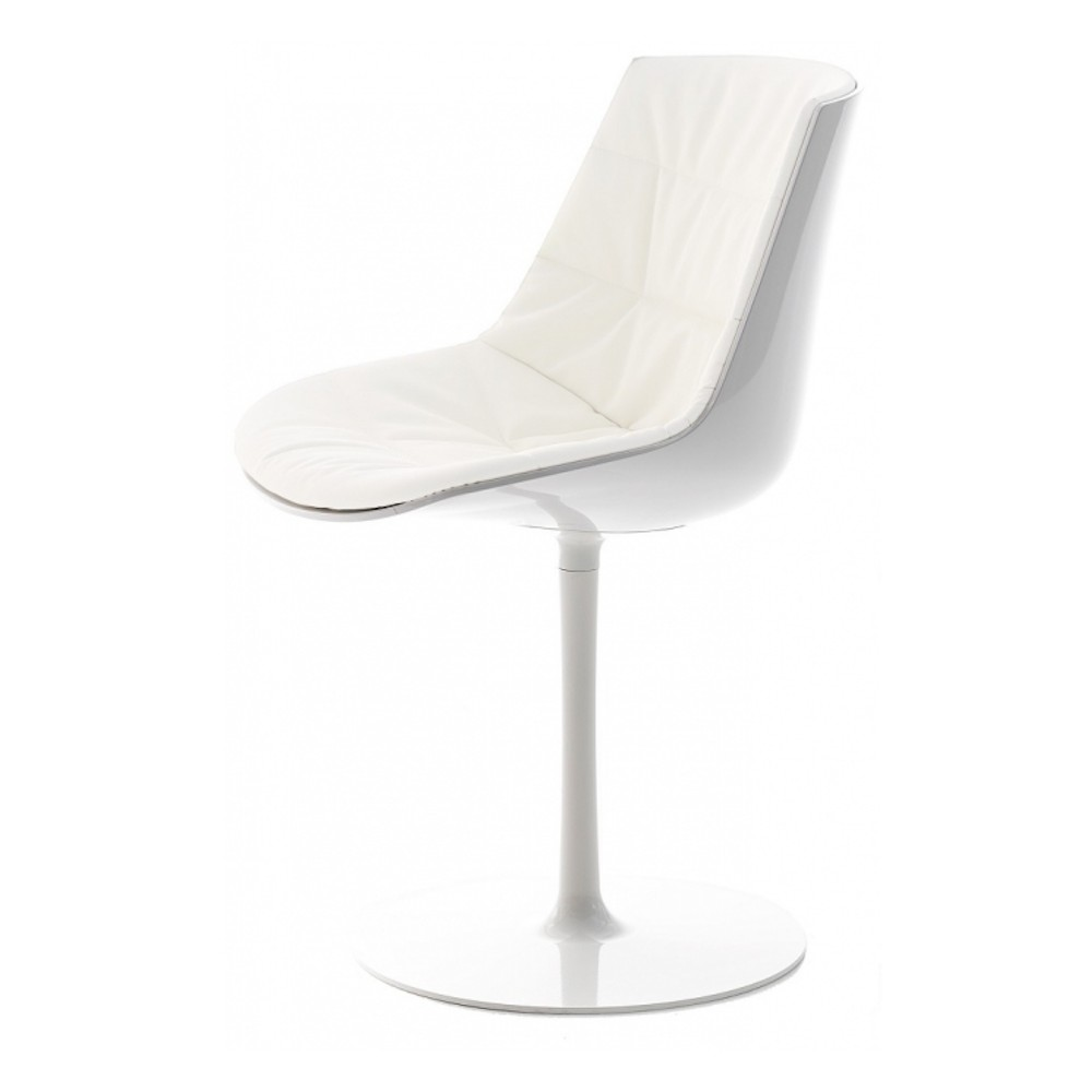 chaise rembourr mdf italia flow chair a stelo design
