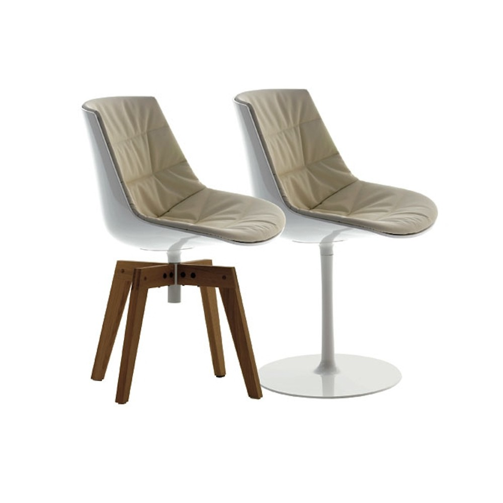 sedia imbottita mdf italia flow chair a stelo design jean marie. Black Bedroom Furniture Sets. Home Design Ideas