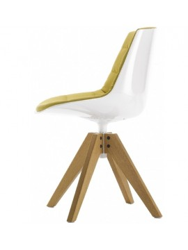 Chaise rembourré Mdf Italia Flow chair - 4 gambe rovere VN design Jean Marie Massaud
