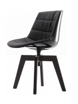 Chair padded Mdf Italia Flow chair - 4 gambe rovere design Jean Marie Massaud