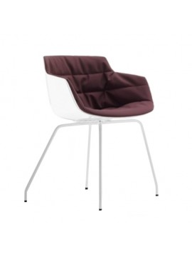 Chair padded Mdf Italia Flow Slim - 4 gambe design Jean Marie Massaud