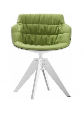 Chair padded Mdf Italia Flow Slim - 4 gambe VN acciaio design Jean Marie Massaud