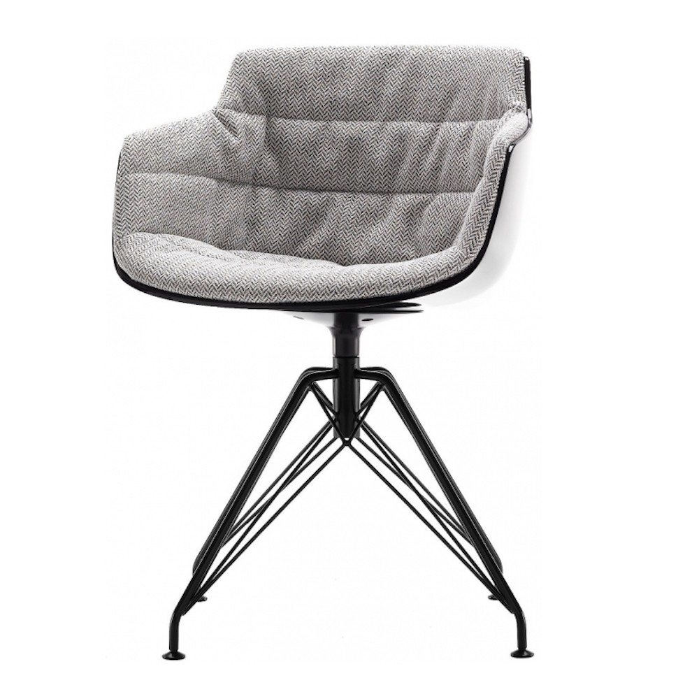 chair padded mdf italia flow slim 4 gambe lem design jean marie. Black Bedroom Furniture Sets. Home Design Ideas