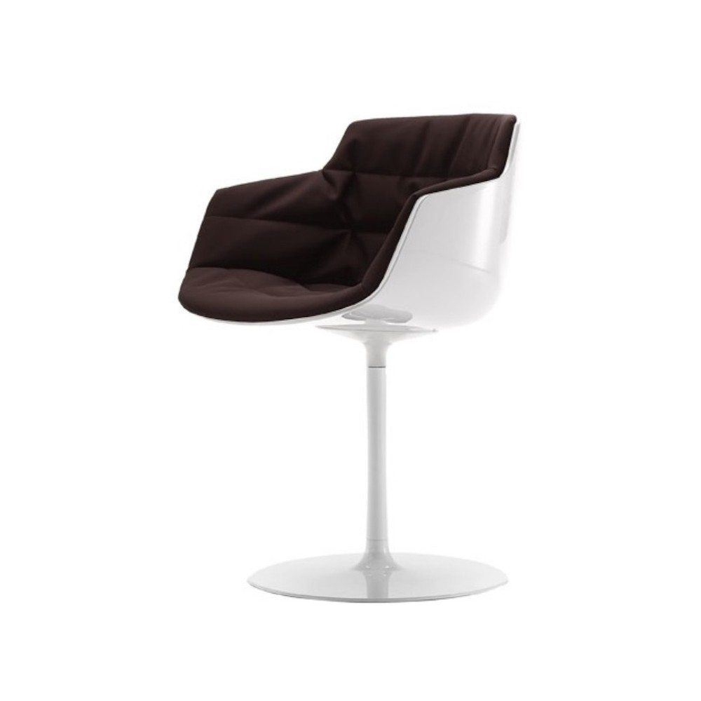 chaise rembourr mdf italia flow slim a stelo design