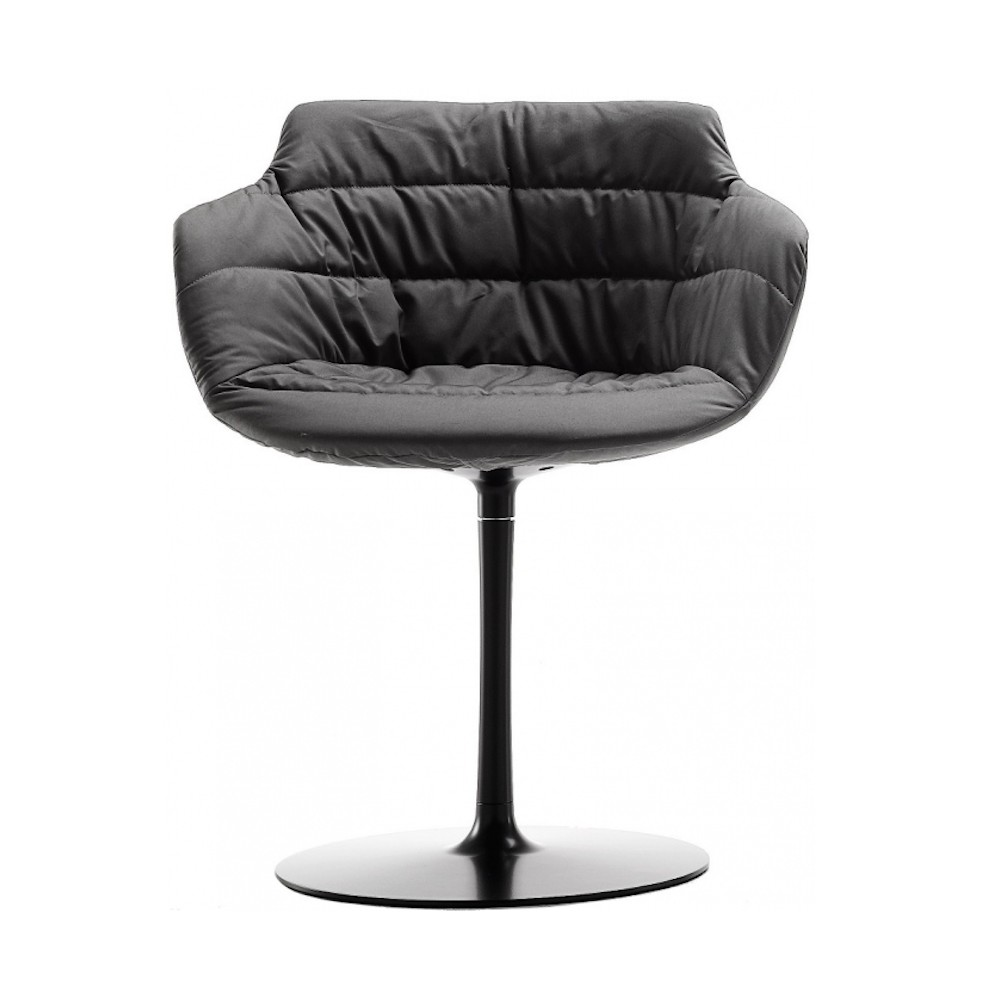chair padded mdf italia flow armchair a stelo design jean marie. Black Bedroom Furniture Sets. Home Design Ideas