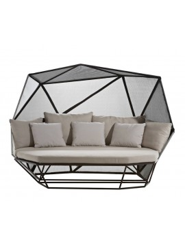 Three-seater sofa with high back Driade Khaima design Patrick Norguet