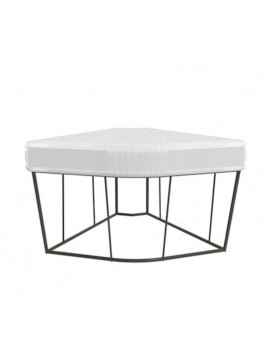 Table basse / pouf angulaire Driade Hervé design Lievore Altherr Molina