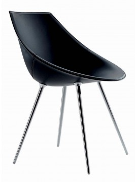 chaise en cuir driade lago design philippe starck. Black Bedroom Furniture Sets. Home Design Ideas