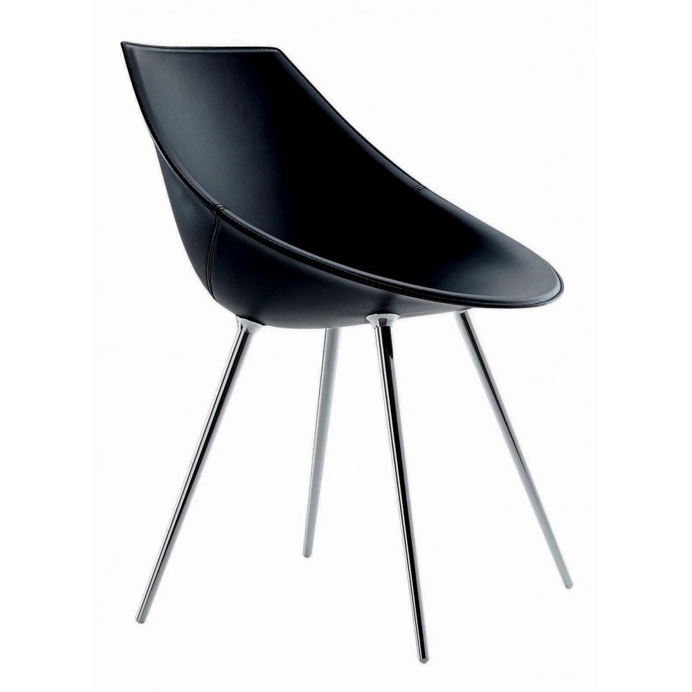Chair leather driade lago design philippe starck progarr - Chaise philippe starck ...