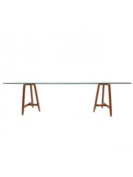 Table in glass Driade Easel design Ludovica + Roberto Palomba