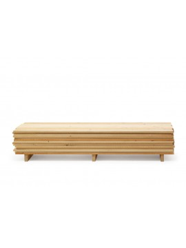 Storage unit Mogg Ordinaryday Low (in a wooden factory) design Raphael Charles