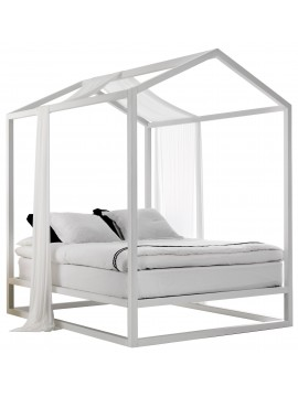 Canopy double bed double Mogg Casetta in Canada design Nathan Yong