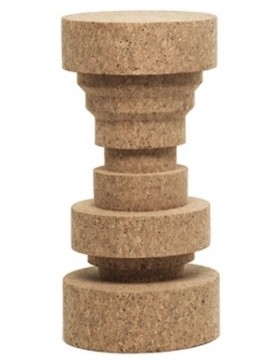 Stool of cork Mogg Queen design Claudio Bitetti