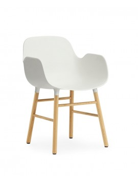 Chair with armrest Normann Copenhagen Form Armchair - leg oak design Simon Legald