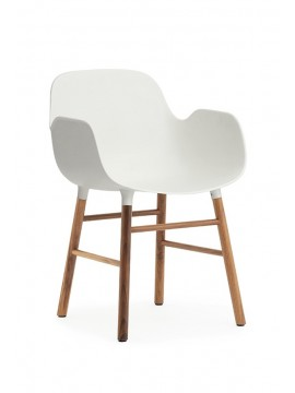 Chair with armrest Normann Copenhagen Form Armchair - leg walnut design Simon Legald