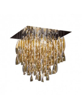 Lamp ceiling Axo Light Aura PL AURA P / fitting gold leaf design Manuel Vivian