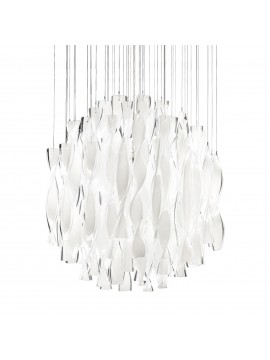 Lampe suspension Axo Light SP AURA 60 / montage: feuille or design Manuel Vivian