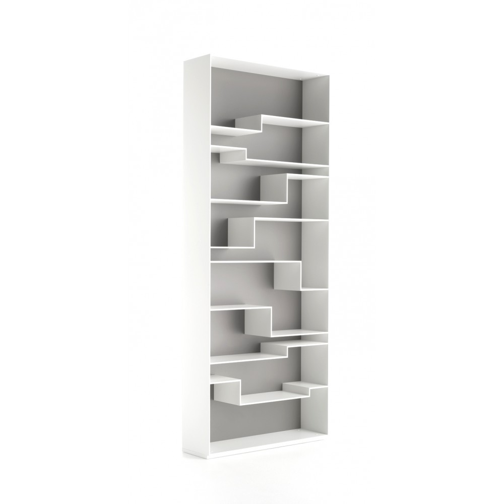 Bookshelves With Contrast Back Mdf Italia Melody Design