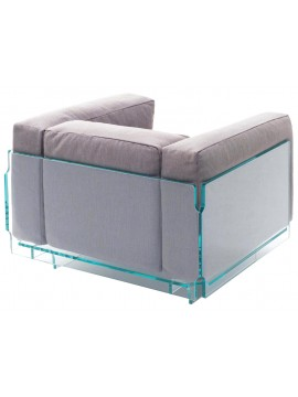 Armchair Glas Italia Crystal Lounge design Jean-Marie Massaud