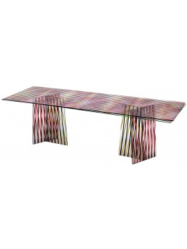Table Glas Italia Crossing - Rouge design Patricia Urquiola