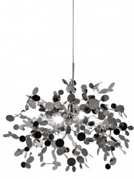 Lampe suspension Terzani Argent design Dodo Arslan