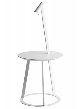 Table basse avec lampe Horm Albino design Salvatore Indriolo