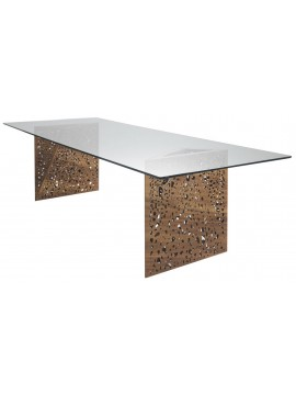 Table Horm Riddled 100x250 cm design Steven Holl