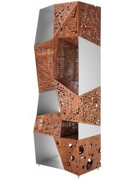 Mobile contenitore Horm Riddled Totem design Steven Holl