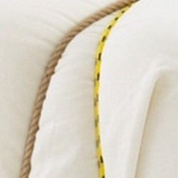 fabric white / ropes yellow and natural